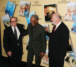 Rob Reiner Jack Nicholson, Morgan Freeman et Rob Reiner - Avant premi�re parisienne de Sans Plus Attendre - Janvier 2008 photo 5 sur 9