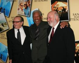Rob Reiner Jack Nicholson, Morgan Freeman et Rob Reiner - Avant premi�re parisienne de Sans Plus Attendre - Janvier 2008 photo 6 sur 9