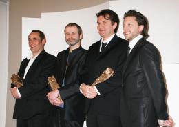 La M�me Laurent Zeilig ; Pascal Villard & Jean-paul Hurier - C�r�monie des C�sar 2008 photo 4 sur 41