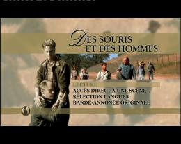 Des Souris et des hommes Menu dvd photo 1 sur 2