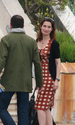 photo 106/130 - Pr�sentation d'Un Conte de No�l - Cannes, le 16 mai 2008 - Emmanuelle Devos - © Isabelle Vautier pour Commeaucinema.com