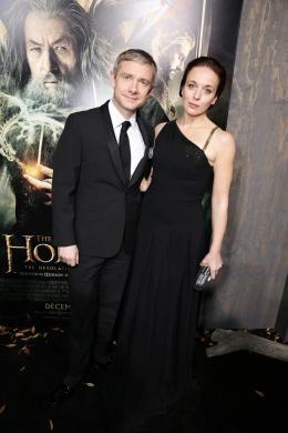 photo 50/98 - Martin Freeman, Amanda Abbington - Avant-première du film - Le Hobbit : La désolation de Smaug - © Warner Bros