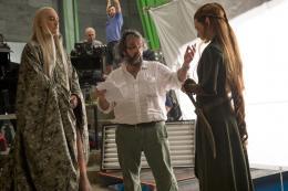 photo 24/98 - Lee Pace, Peter Jackson, Evangeline Lilly - Le Hobbit : La désolation de Smaug - © Warner Bros