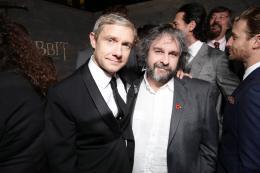 photo 60/98 - Martin Freeman, Peter Jackson - Avant-première du film - Le Hobbit : La désolation de Smaug - © Warner Bros