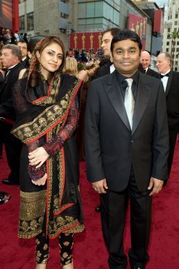 A.R. Rahman A.r. Rahman - Tapis Rouge 81�me C�r�monie des Oscars 2009 - 22 F�vrier 2009 photo 4 sur 7