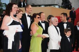 photo 114/409 - Bob Peterson, Charles Aznavour, John Lasseter, Pete Docter, Jonas Rivera et Tom Trouffier - L�-Haut - © Walt Disney Studios Motion Pictures France