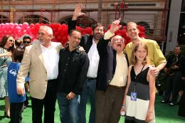 photo 241/409 - John Ratzenberger, Joans Rivera, Bob Peterson, Ed Asner, Pete Docter - Avant-premi�re L�-Haut � Los Angeles - L�-Haut - © Eric Charbonneau