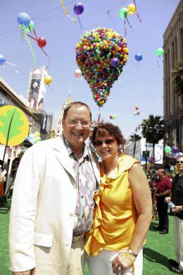 photo 216/409 - John Lasseter et Nancy Lasseter - Avant-premi�re L�-Haut � Los Angeles - L�-Haut - © Eric Charbonneau