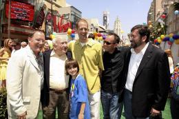 photo 244/409 - John Lasseter, Ed Asner, Pete Docter, Jonas Rivera et Bob Peterson - Avant-premi�re L�-Haut � Los Angeles - L�-Haut - © Eric Charbonneau