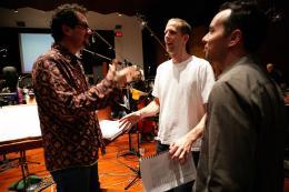 photo 325/409 - Michael Giacchino, Pete Docter et Jonas Rivera - L�-Haut - © Walt Disney Studios Motion Pictures France