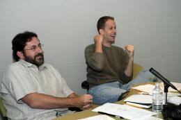 photo 331/409 - Bob Peterson et Pete Docter - L�-Haut - © Walt Disney Studios Motion Pictures France