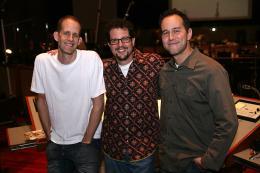 photo 326/409 - Michael Giacchino, Pete Docter et Jonas Rivera - L�-Haut - © Walt Disney Studios Motion Pictures France