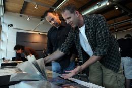 photo 345/409 - Jonas Rivera et Pete Docter - L�-Haut - © Walt Disney Studios Motion Pictures France