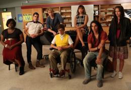 photo 45/316 - Kevin McHale, Chord Overstreet, Jenna Ushkowitz, Darren Criss, Melissa Benoist, Samuel Larsen, Alex Newell - Glee - © Fox