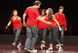 photo 178/316 - Lea Michele, Chris Colfer, Jenna Ushkowitz, Amber Riley - Saison 1, épisode pilote - Glee