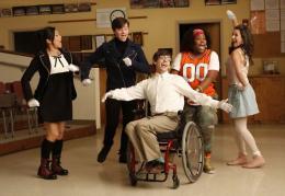 photo 183/316 - Lea Michele, Kevin McHale, Chris Colfer, Jenna Ushkowitz, Amber Riley - Saison 1, épisode pilote - Glee