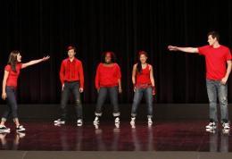 photo 192/316 - Lea Michele, Cory Monteith, Chris Colfer, Jenna Ushkowitz, Amber Riley - Saison 1, épisode pilote - Glee