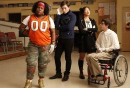 photo 189/316 - Kevin McHale, Chris Colfer, Jenna Ushkowitz, Amber Riley - Saison 1, épisode pilote - Glee