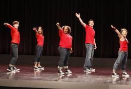 photo 180/316 - Lea Michele, Kevin McHale, Chris Colfer, Jenna Ushkowitz, Amber Riley - Saison 1, épisode pilote - Glee