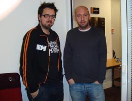 Jaume Balaguero Avec Paco Plaza - Rencontre pour REC <i>(Paris, Janvier 2008)</i> photo 10 sur 12