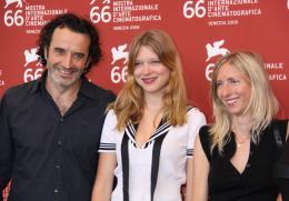 Lourdes Bruno Todeschini, L�a Seydoux et Jessica Hausner - Pr�sentation du film Lourdes - Mostra de Venise 2009 photo 9 sur 25