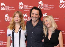 Lourdes L�a Seydoux, Bruno Todeschini et Jessica Hausner - Pr�sentation du film Lourdes - Mostra de Venise 2009 photo 8 sur 25