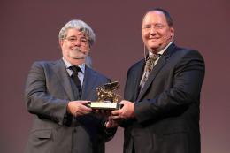 photo 12/39 - Hommage à John Lasseter et à Pixar - Mostra de Venise 2009 - George Lucas