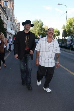 photo 56/79 - Robert Rodriguez et Danny Trejo - Pr�sentation du film Machete - Mercredi 1er Septembre 2010 - Machete - © Isabelle Vautier pour Commeaucinema.com