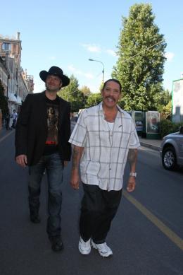 photo 60/79 - Robert Rodriguez et Danny Trejo - Pr�sentation du film Machete - Mercredi 1er Septembre 2010 - Machete - © Isabelle Vautier pour Commeaucinema.com
