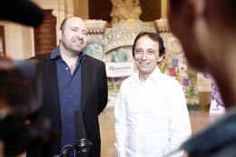 photo 51/185 - Xavier Fagnon et Eric Metayer - Avant-Première à la Sorbonne - Monstres Academy - © Walt Disney Studios Motion Picture