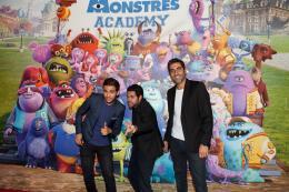 photo 74/185 - Malik Bentalha, Jamel Debbouze et Ary Abittan - Avant-Première à la Sorbonne - Monstres Academy - © Walt Disney Studios Motion Picture