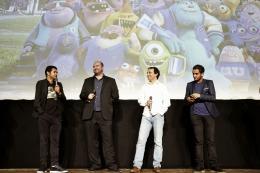 photo 56/185 - Jamel Debbouze, Xavier Fagnon, Eric Metayer et Malik Bentalha - Avant-Première à la Sorbonne - Monstres Academy - © Walt Disney Studios Motion Picture