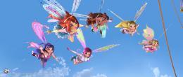 photo 3/4 - Bloom, Flora, Musa, Tecna, Stella, Layla - Winx Club, l'aventure magique 3D - © Rezo Films