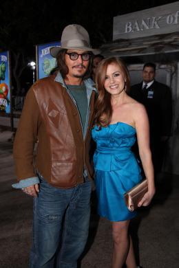 photo 26/42 - Johnny Depp et Isla Fisher - Avant-première du film Rango à Los Angeles - Février 2011 - Rango - © Paramount