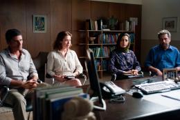 photo 5/7 - Pascal Elb�, Emmanuelle Devos, Areen Omari et Khalifa Natour - Le Fils de l'autre - © Haut et Court