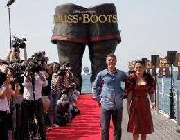 photo 47/135 - Salma Hayek et Antonio Banderas - Présentation du Chat Potté - Cannes 11 mai 2011 - Le Chat Potté - © Lucian Capellaro/Paramount Pictures