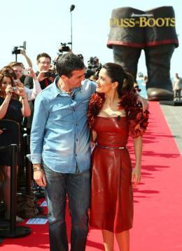 photo 55/135 - Salma Hayek et Antonio Banderas - Présentation du Chat Potté - Cannes 11 mai 2011 - Le Chat Potté - © Lucian Capellaro/Paramount Pictures