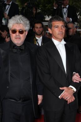 photo 26/75 - Pedro Almodovar et Antonio Banderas - Montée des marches du film La Piel que habito - Mai 2011 - La Piel que habito - © Isabelle Vautier pour CommeAuCinema - Cannes 2011