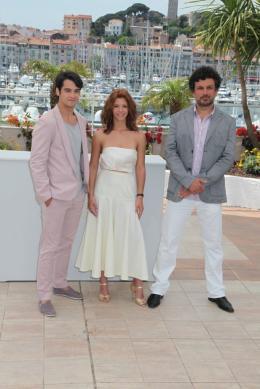 photo 3/8 - George Pisteran, Ada Condeescu et Catalin Mitulescu - Cannes - Mai 2011 - Loverboy - © Isabelle Vautier pour CommeAuCinema - Cannes 2011