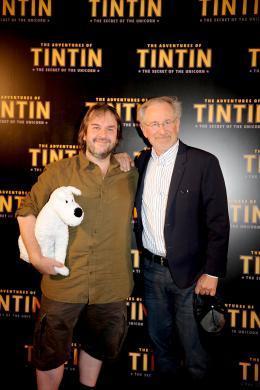 photo 37/58 - Peter Jackson et Steven Spielberg - Photocall Tintin, Juillet 2011 - Les Aventures de Tintin : Le Secret de la Licorne - © Sony Pictures