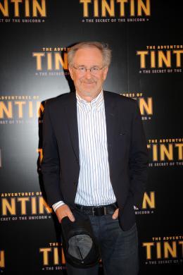 photo 38/58 - Steven Spielberg - Photocall Tintin, Juillet 2011 - Les Aventures de Tintin : Le Secret de la Licorne - © Sony Pictures