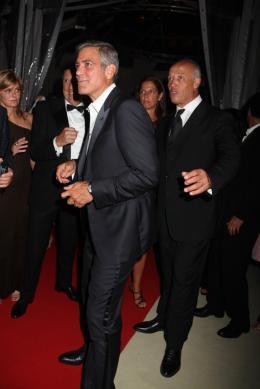 photo 61/69 - George Clooney - Diner Les Marches du pouvoir, 31 aout 2011, Venise - Les Marches du pouvoir - © Isabelle Vautier pour Commeaucinema.com