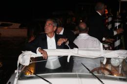 photo 68/69 - George Clooney - Diner Les Marches du pouvoir, 31 aout 2011, Venise - Les Marches du pouvoir - © Isabelle Vautier pour Commeaucinema.com