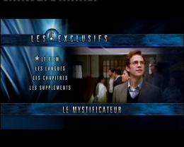 Le Mystificateur Menu DVD photo 8 sur 9
