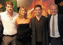 photo 61/120 - Liam Hemsworth, Jennifer Lawrence, Sam Claflin, Francis Lawrence - Hunger Games - L'Embrasement - © Metropolitan Film