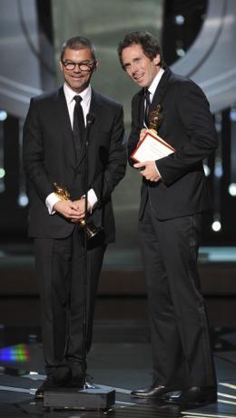 Kirk Baxter Angus Wall et Kirk Baxter - 84ème Cérémonie des Oscars 2012 photo 1 sur 2