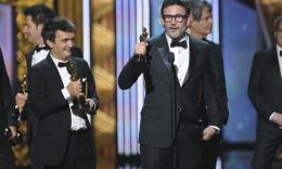 84ème Cérémonie des Oscars 2012 Thomas Langmann et Michel Hazanavicius - 84ème Cérémonie des Oscars 2012 photo 3 sur 79