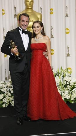 84ème Cérémonie des Oscars 2012 Jean Dujardin et Natalie Portman - 84ème Cérémonie des Oscars 2012 photo 9 sur 79