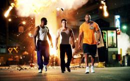 photo 11/35 - Anthony Mackie, Mark Wahlberg et Dwayne Johnson - No Pain No Gain - © Paramount