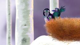 photo 1/6 - Maman corbeau et le renard - Portrait de famille - © Les films du Whippet